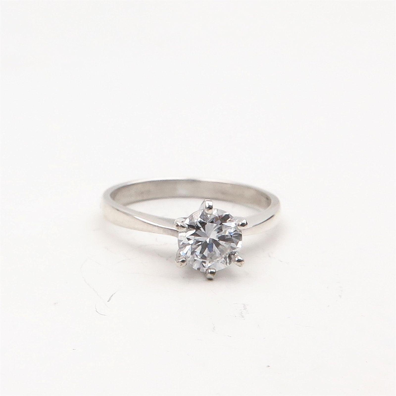 A Ladies Diamond Solitaire Ring 0.57 Carat