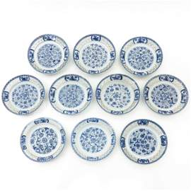 A Series of 10 Reticulated Plates