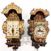 A Collection of 2 Dutch Wall Clocks
