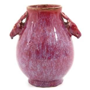A Deer Head Hu Vase