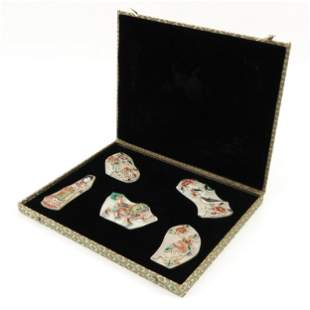 A Collection of Chinese Plaques in Box