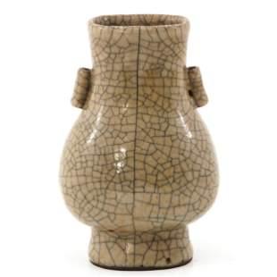 A Crackle-Glazed Hu Vase