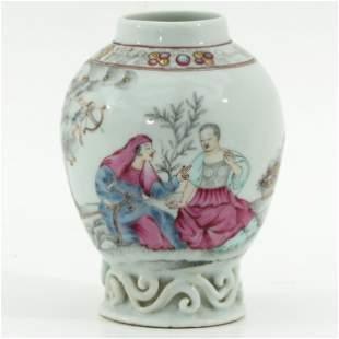 A Famille Rose Tea Box