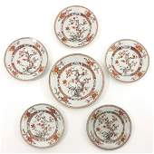 A Collection of 6 Polychrome Decor Plates