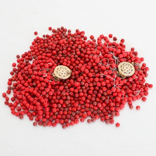 Lot of 390 grams of Red Beads