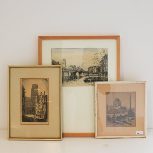 Lot of 3 Etchings and Prints