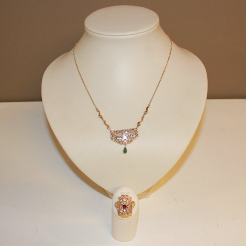 18K Gold Necklace and Ring