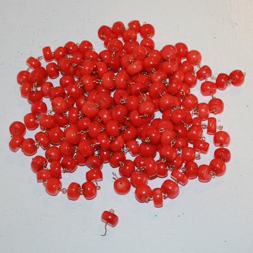 Large Lot of Blood Stain Beads