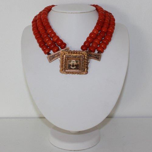 Red Coral Necklace Volendam Locker depicting Free Mason