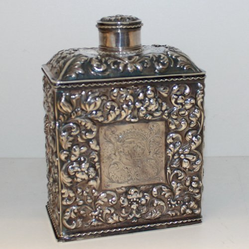 Dutch Silver 18th Century Tea Box with Old Marks