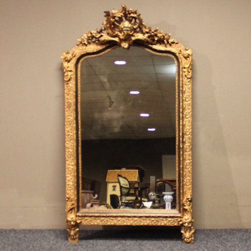Antique Gold Guilt Louis XV Mirror