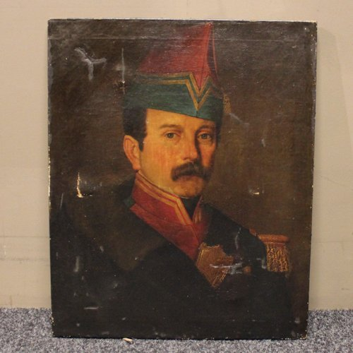 Oil on Canvas Portrait of Admiral
