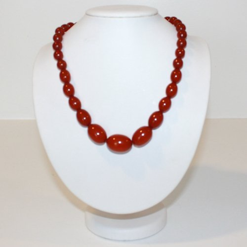 Cherry Bakelite Graduated Bead Necklace