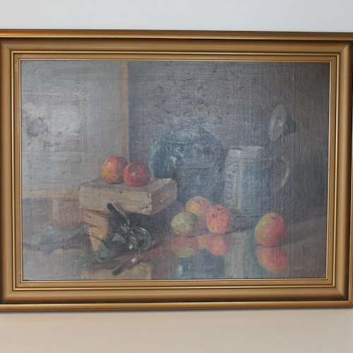 Oil on Panel Still Life Painting