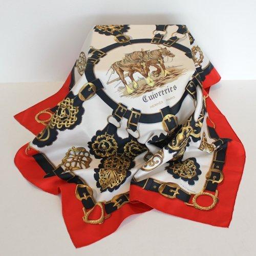 Hermes Cuiveeries Silk Scarf