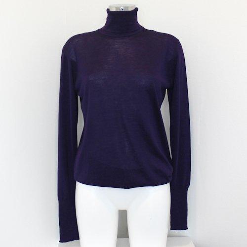 Chanel Purple Wood Turtle Neck Sweater