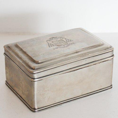 Silver Dutch Cookie Box Van Kempen Voorschoten