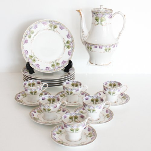 Limoges France Art Nouveau Tea Set