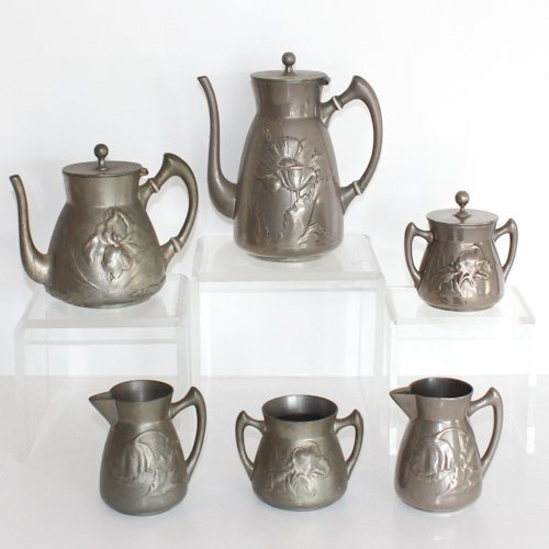 6 Piece Kayserzinn Coffee  and Tea Service