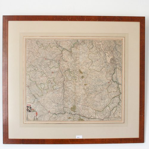 Antique Map of Brabant, Netherlands dated 1666