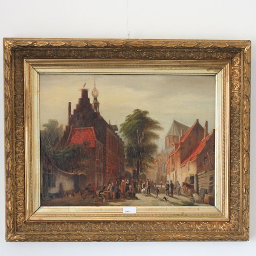 19th Century Signed Spohler Oil on Canvas