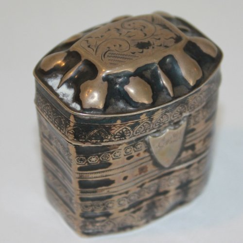 Dutch Silver 19th Century Louderijndoosje or Scent Box