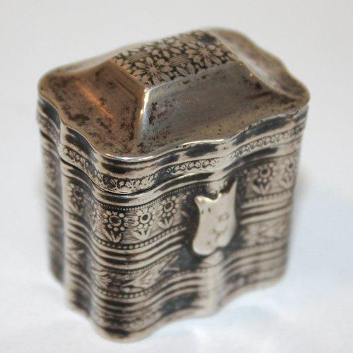 Dutch Silver 19th Century Louderijndoosje or Scent Box