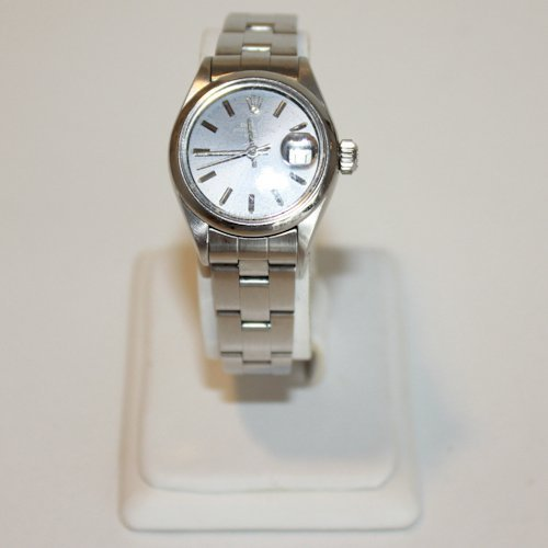 Ladies Stainless Oyster Perpetual Date Just Rolex