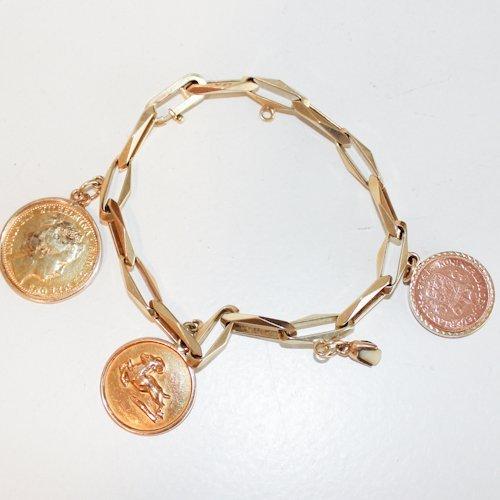 14KG Ladies Charm Bracelet
