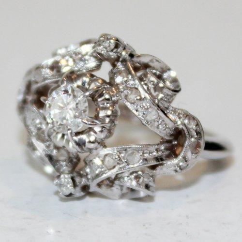 14KWG Ladies Diamond Ring