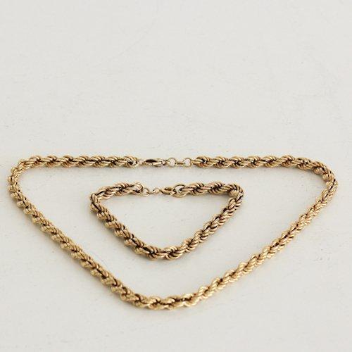 14KG Necklace and Bracelet