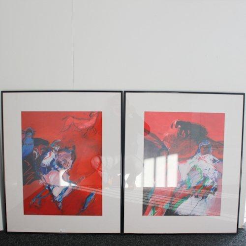Lot of 2 Works of Margriet de Bruijn