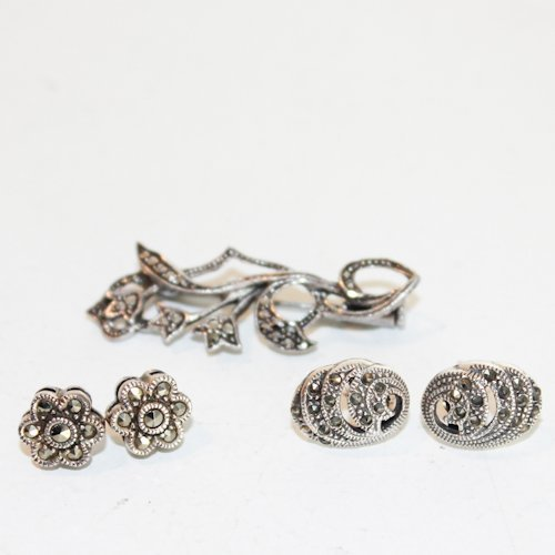 Lot of Marcasite and Silver Jewelry