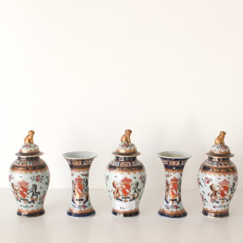 5 Piece Chine de Commande Garniture Set