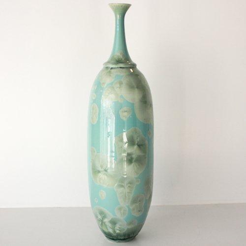 Signed Willy van Bussel Crystal Glaze Vase