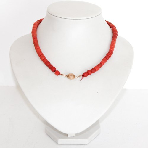 19th Century Red Coral Necklace with Gold Clasp