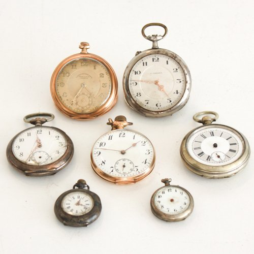 Lot of 7 Vintage Pocket Watches