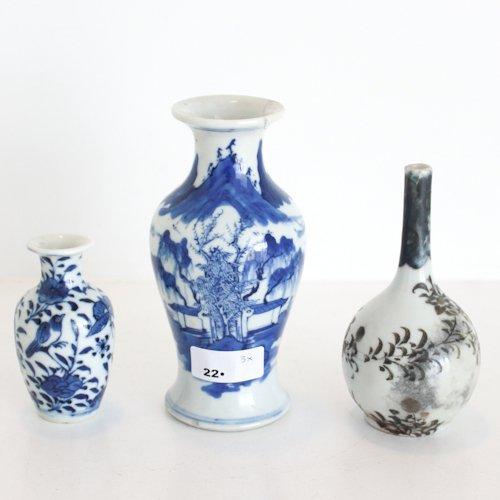 Lot of 3 Asian Porcelain Vases