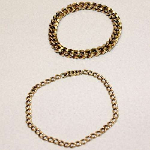 Lot of 2 14KG Bracelets
