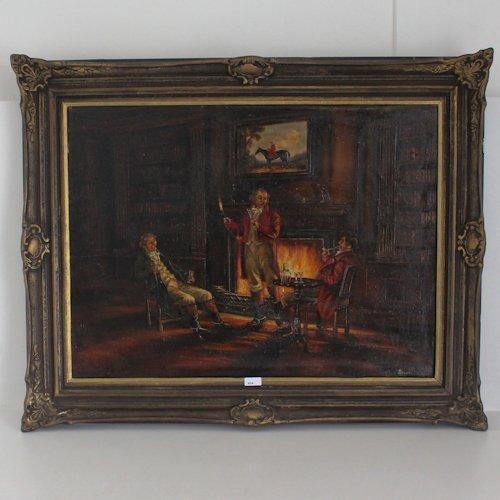 Oil on Canvas Signed Bevort Circa 1930