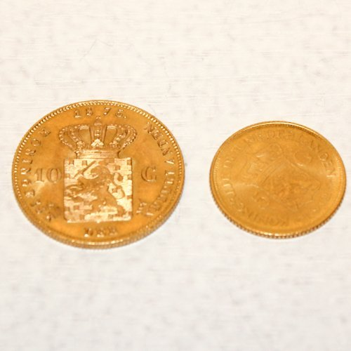 Lot of 10 and 5 Gold Guilder Coins