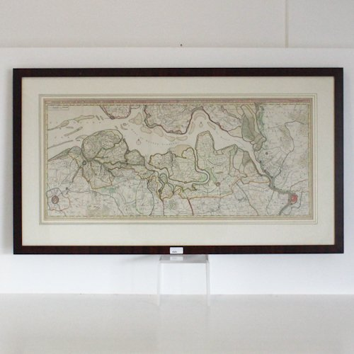Hand Colored Map Dated 1774 Isaak Tirion