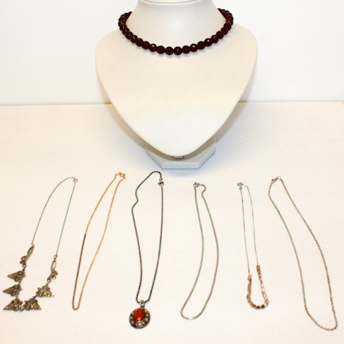 Diverse Lot of Jewelry with Some Silver Items