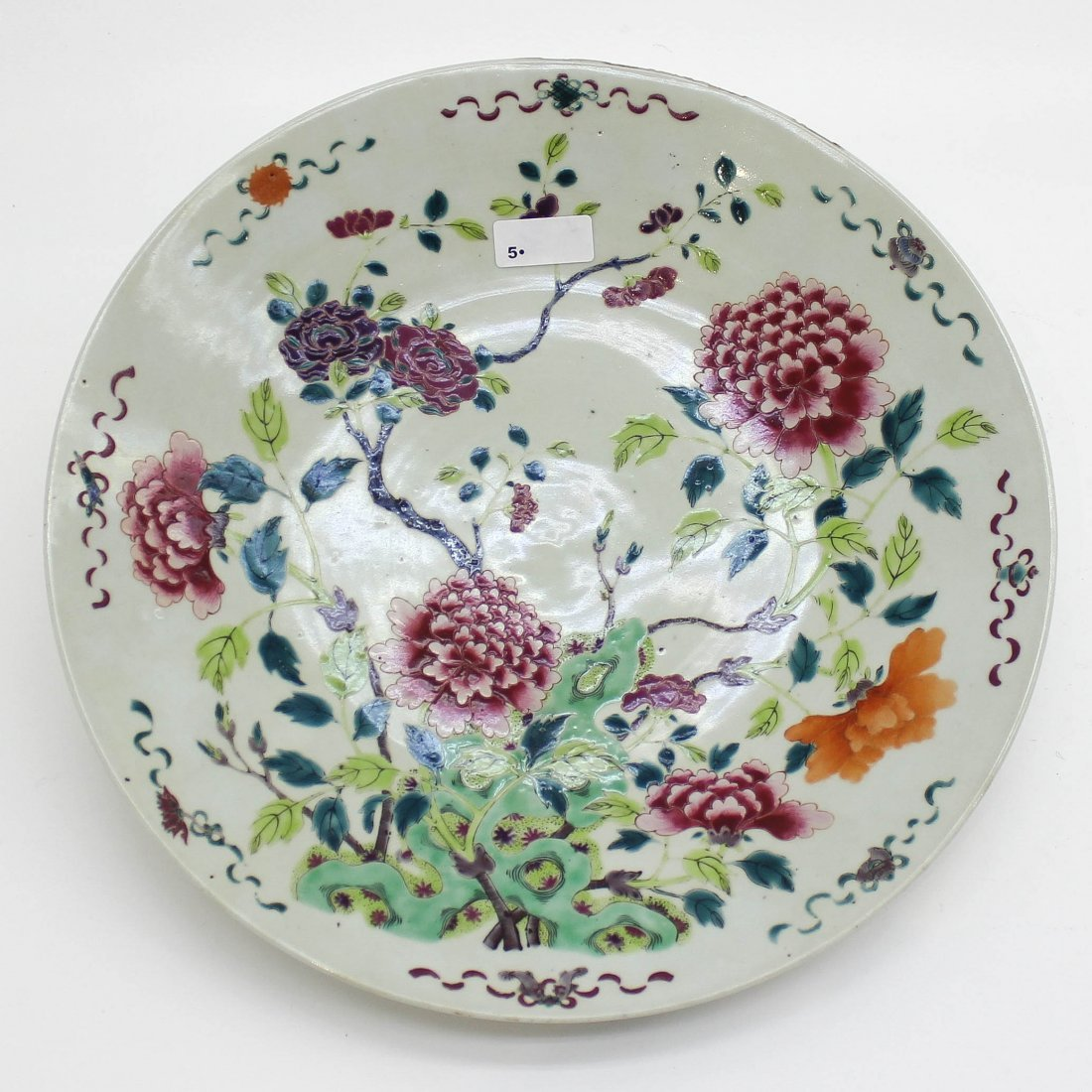 19th Century Family Rose Plate