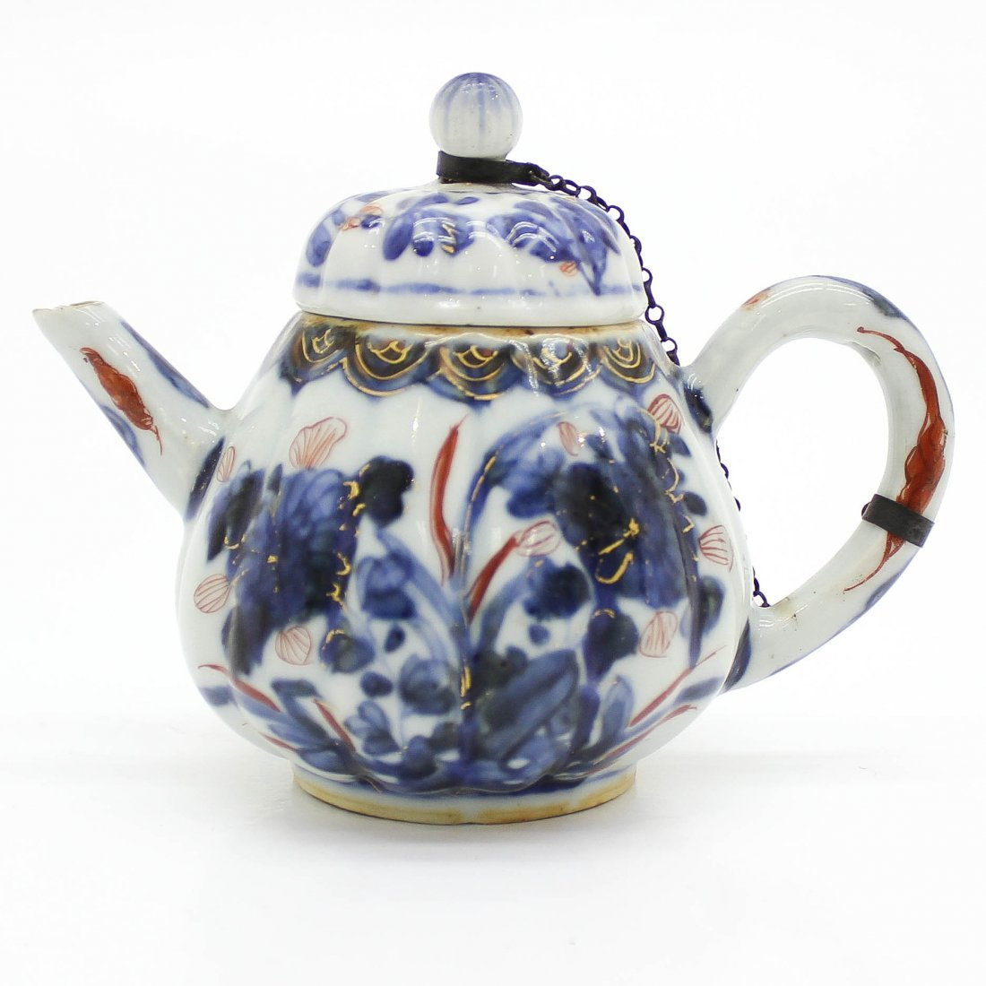 18th Century Japanese Imari Miniature Teapot & Cover