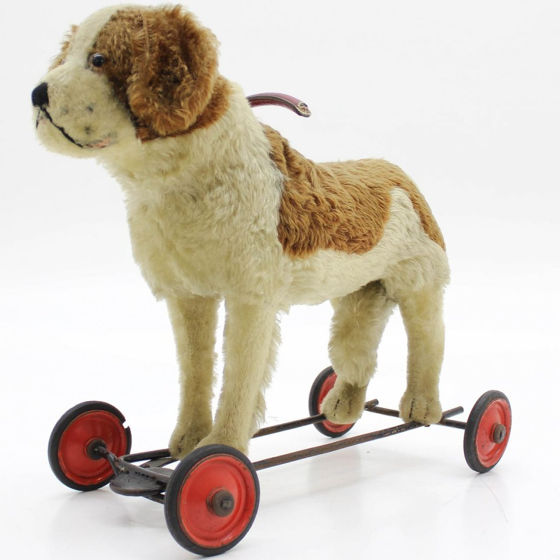 Vintage Steiff Dog on Wheels