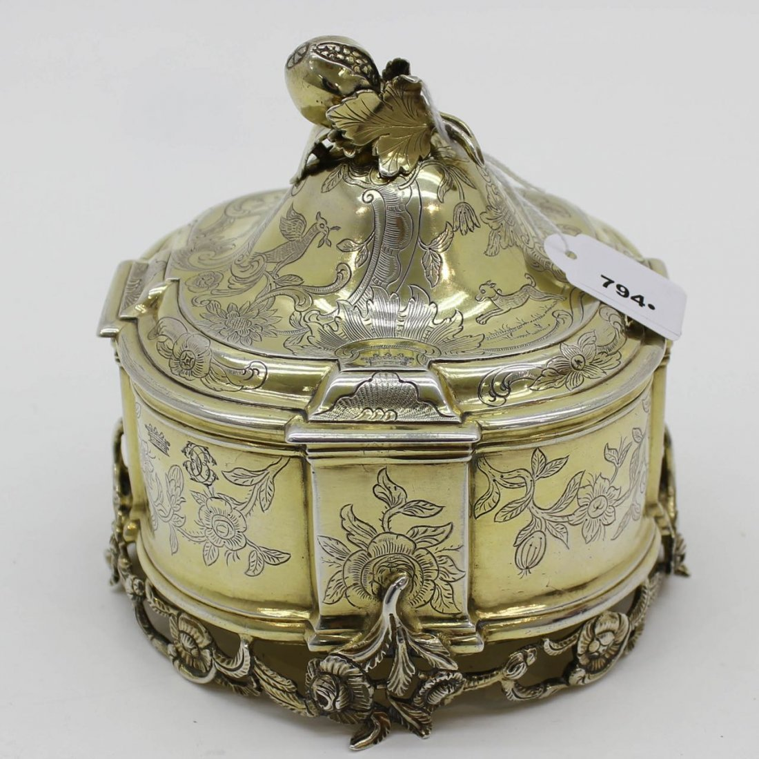 A Fine 18th Century Dutch Silver Tobacco Pot