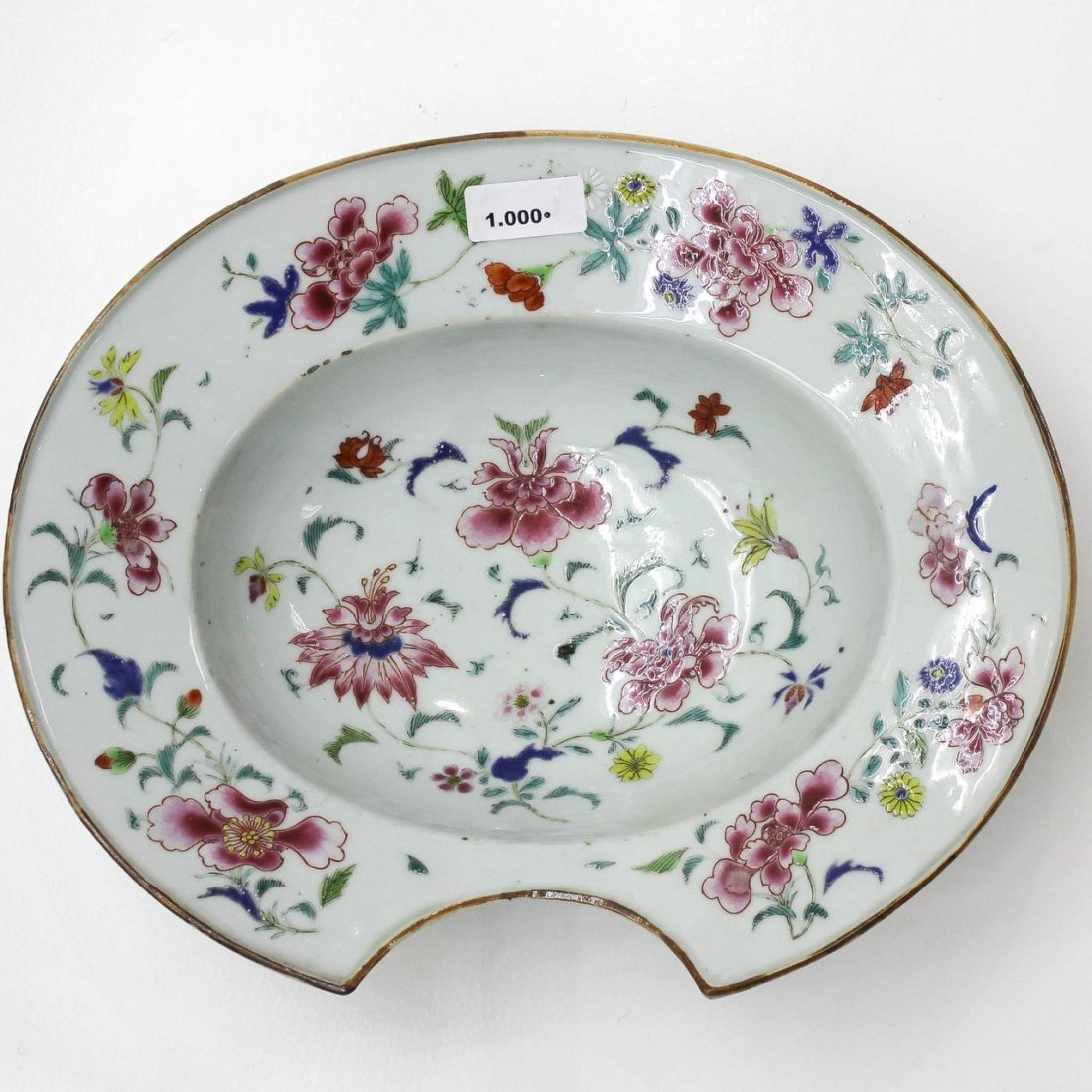 18th / 19th Century China Porcelain Barber's Basin