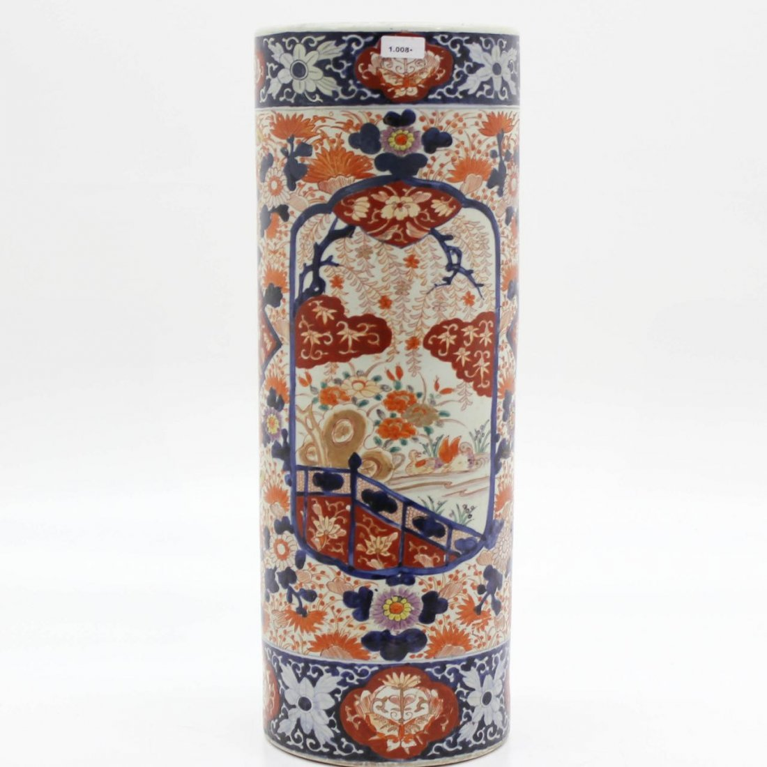 19th Century Japanese Porcelain Umbrella Stand