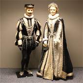 Rare Life Size Wax Dolls in 18th Century Dress